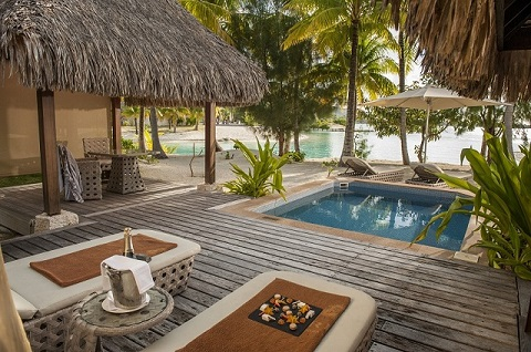 Bora Bora Hotel buchen - Villa am Strand