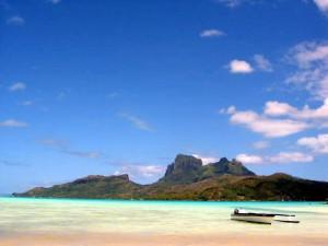 Bora Bora Bilder - Blick auf die Bora Bora Insel
